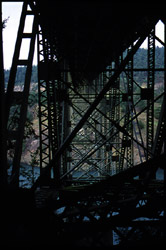 [Deception Pass bridge. Whidbey Island, WA. January  2000.]